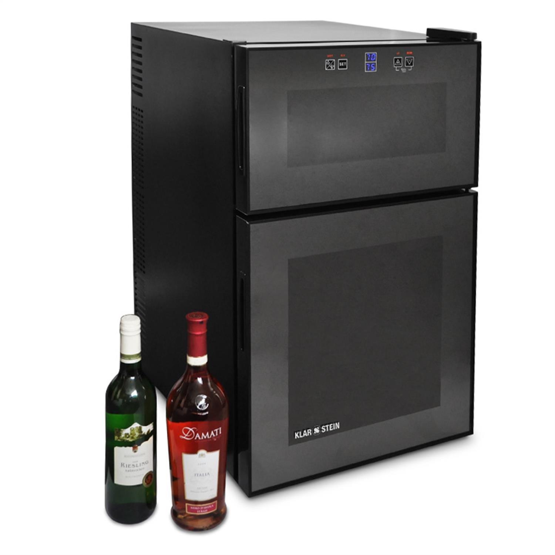 Klarstein MKS-2 • minibar • refrigérateur à boissons • 70 litres • 28 bouteilles • 6 étagères • silencieux • commande écran tactile • température: 08 °- 18 ° C •