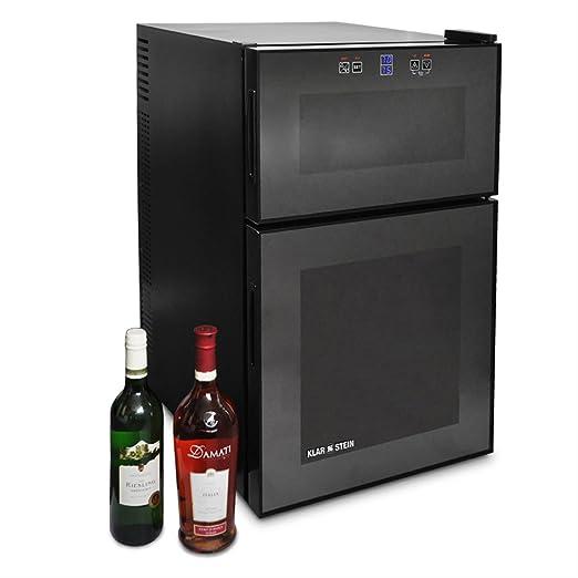 KLARSTEIN Vinoteca (24 Botellas, 68 litros, 2 Compartimentos de ...