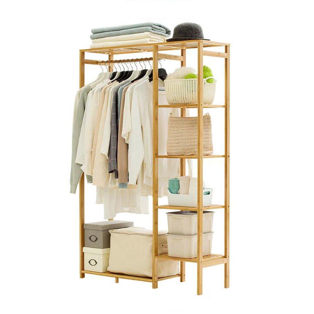 A Coat rack Simple coat rack Solid Wood Bedroom Hanger Floor Hanger Storage Rack Simple Modern Clothes Rack (color   D)