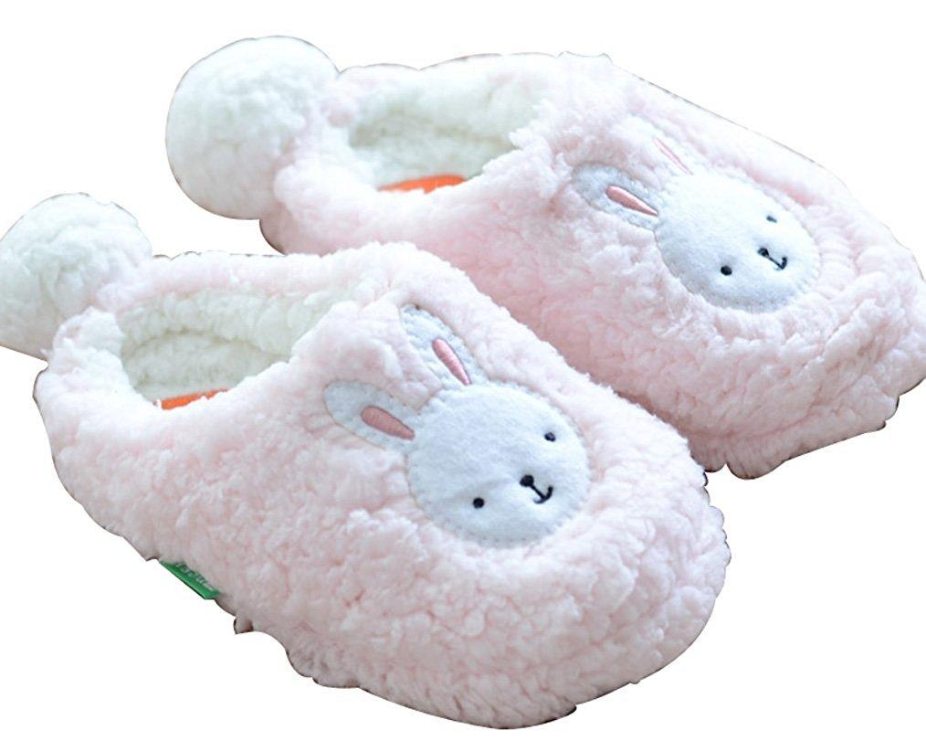 MiYang冬レディースファッションノベルティスリッパクラシックBunnyスリッパ B01M0D92B7 US Size:4-5 Pink Bunny Pink Bunny US Size:4-5