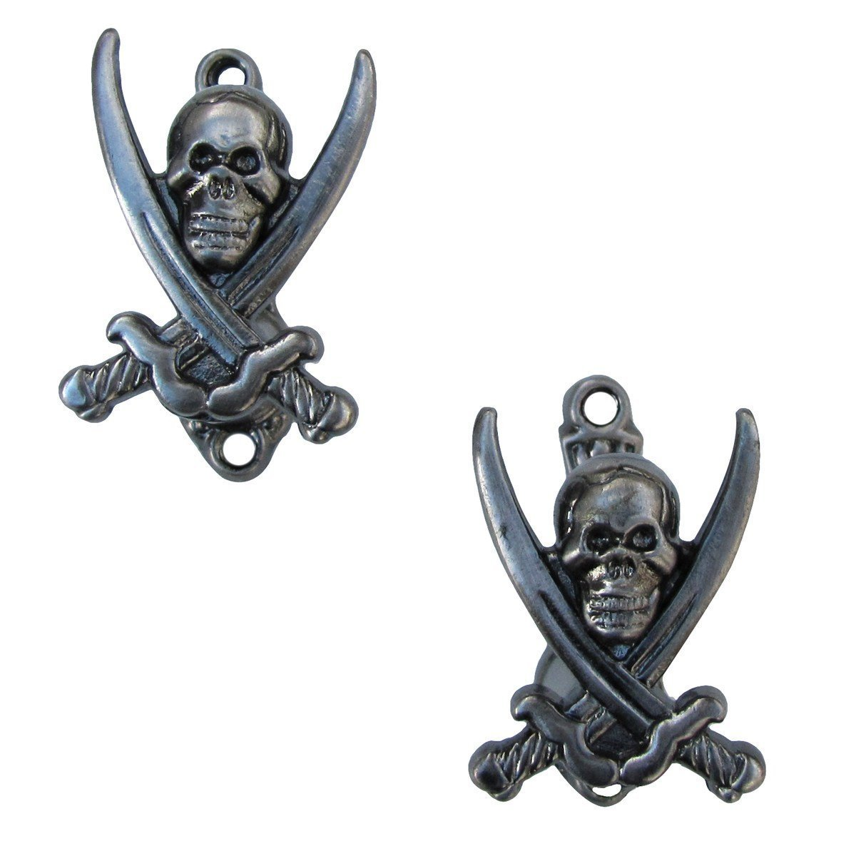 2 Pirate Jolly Roger Wall Hooks