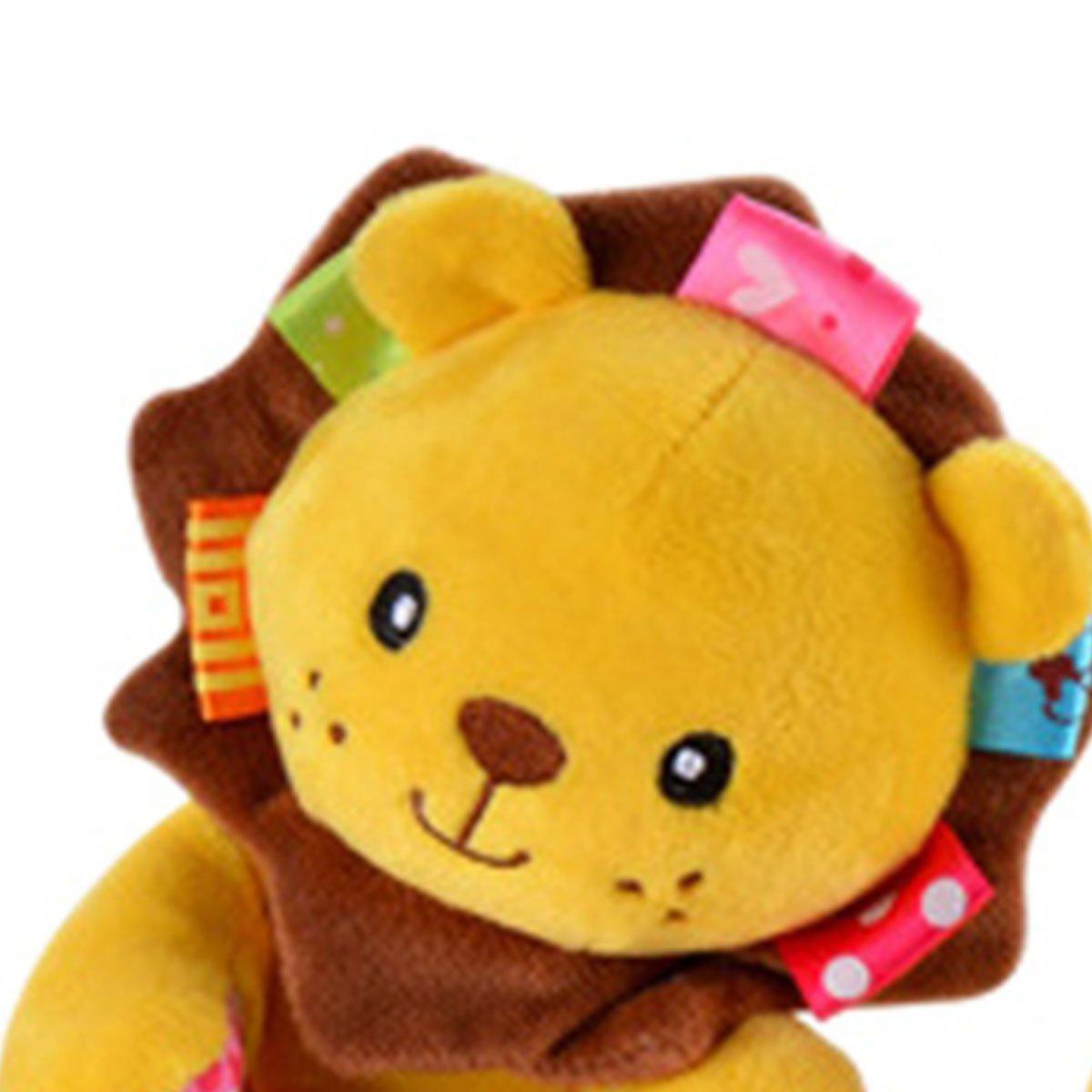 Jouet /éducatif Animal Lion Hochet Spiral Peluche Jouet d/éveil pour Berceau Poussette
