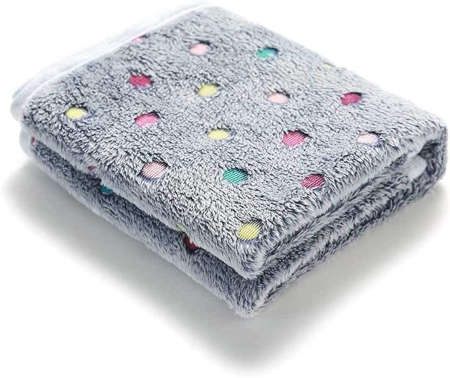 luciphia 1 Pack 3 Blankets Super Soft Fluffy Premium Fleece Pet Blanket Flannel Throw for Dog Puppy Love Large