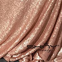 ShinyBeauty Aisle Runner Tape-Blush-4FTX40FT,Shimmer Sequin Fabric Wedding Floor Runner,Glitter Carpert Runner (Blush)