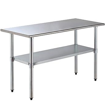 UEnjoy - Mesa de cocina de acero inoxidable para restaurante ...