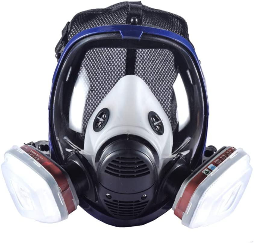 Full Face Respirator Toxic Smoke Filter Adjustable Full Face Respirator For Paint Dust Chemical Pesticide Protection Respirator System Helmet Industrial Gas Chemical Reusable Amazon Ca Home Kitchen