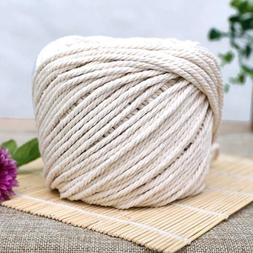 Leepesx Cuerda de algodón Natural Cordón de macramé de Bohemia ...