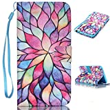 """iPhone 6S Plus Case,iPhone 6S Plus Wallet Case, LW-Shop PU Flip Stand Credit Card ID Holders Wallet Leather Case Cover Folio Magnetic Design for iPhone 6 Plus / 6S Plus 5.5"""" (Colorful Leaves)"""