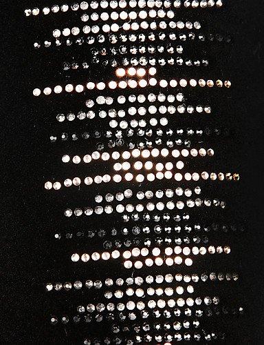 Negro Uk4 Uk6 Y 5 5 Fiesta Noche Black Tacón Black Cerrada Xzz us6 7 Cn39 Eu39 Botas La Mujer Vestido Eu37 Redonda De 5 Punta Stiletto Zapatos us8 Vellón Moda Cn37 A fWx4q16wT