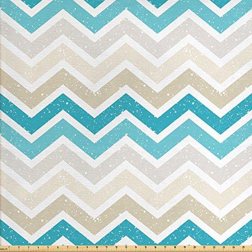 blue chevron upholstery fabric - 7