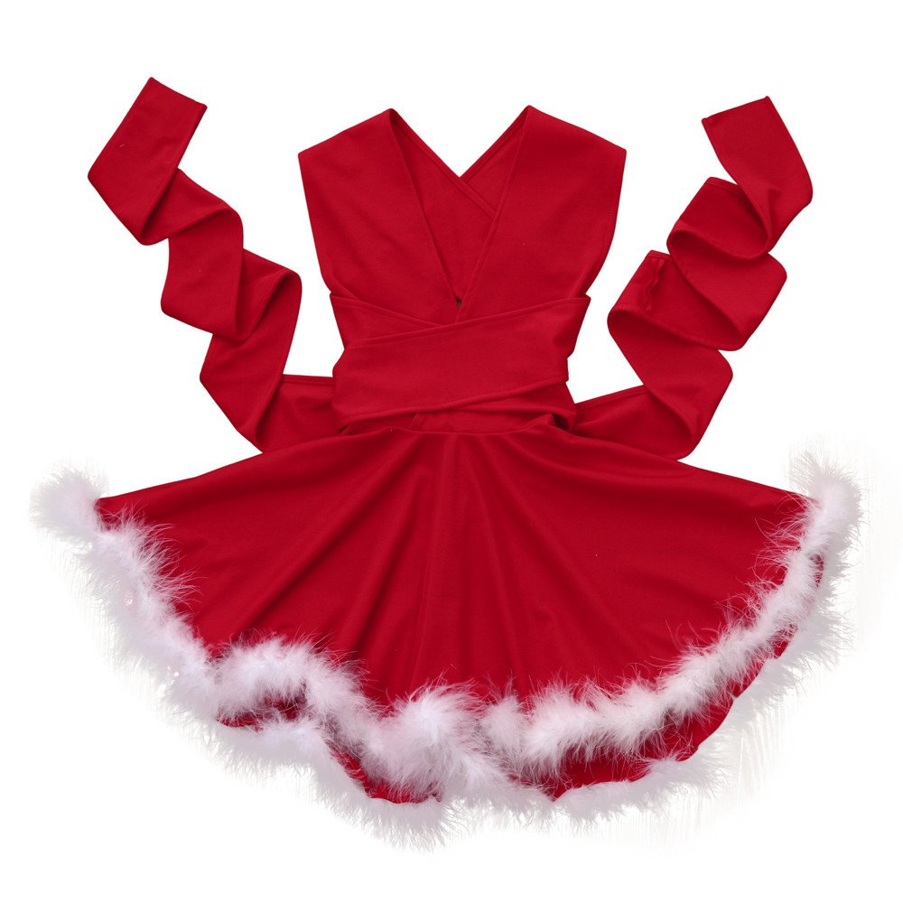 Toddler Baby Girls Christmas Dress Sleeveless Backless Princess Dress Bokeley