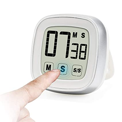Touch Screen Digital Kitchen Timer, Cooking Timer Large Display Loud Alarm  Magnetic Back U0026 Stand