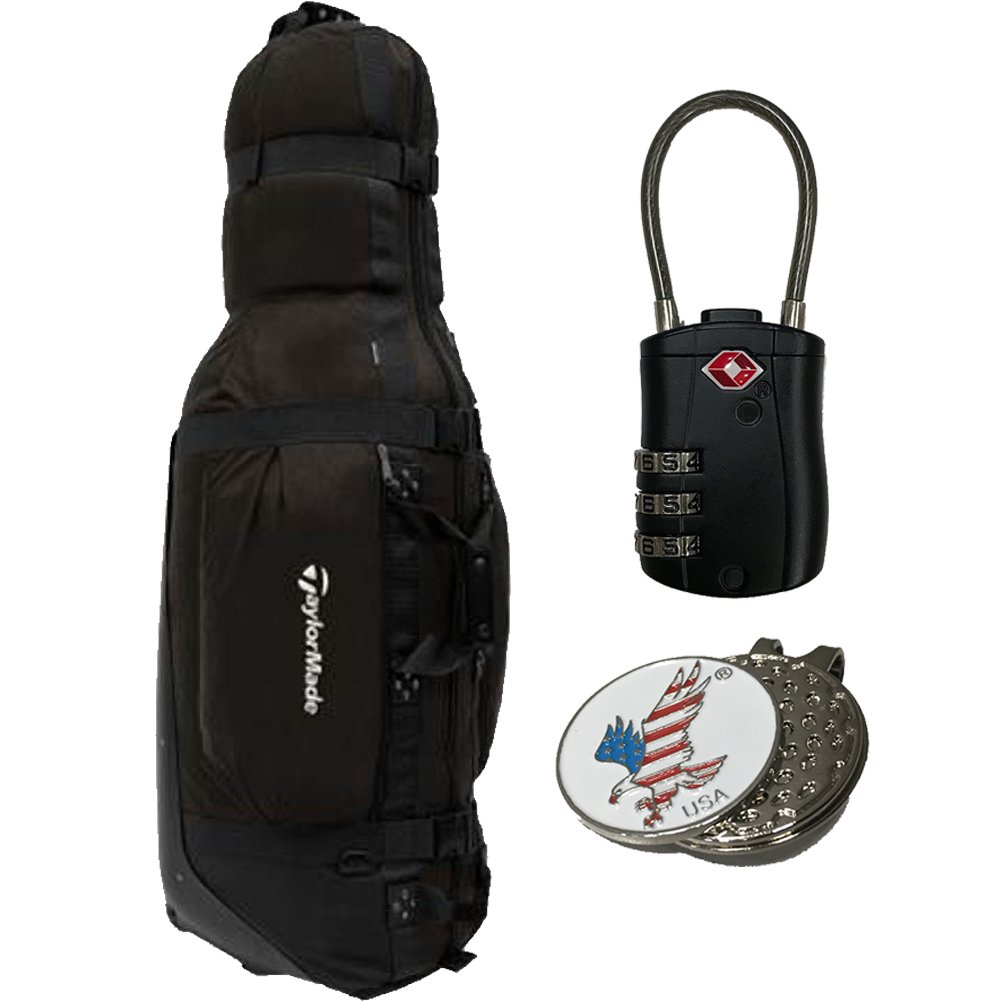 Amazon.com   TaylorMade 2018 Players Golf Travel Cover Bag by Club Glove  Large Pro + 1 TSA Lock + 1 Custom Ball Marker Clip Set (American Eagle)    Sports   ... 824b401359f70