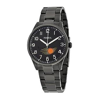Fossil Agent Black Dial Black Stainless Steel Bracelet Mens Watch FS4849
