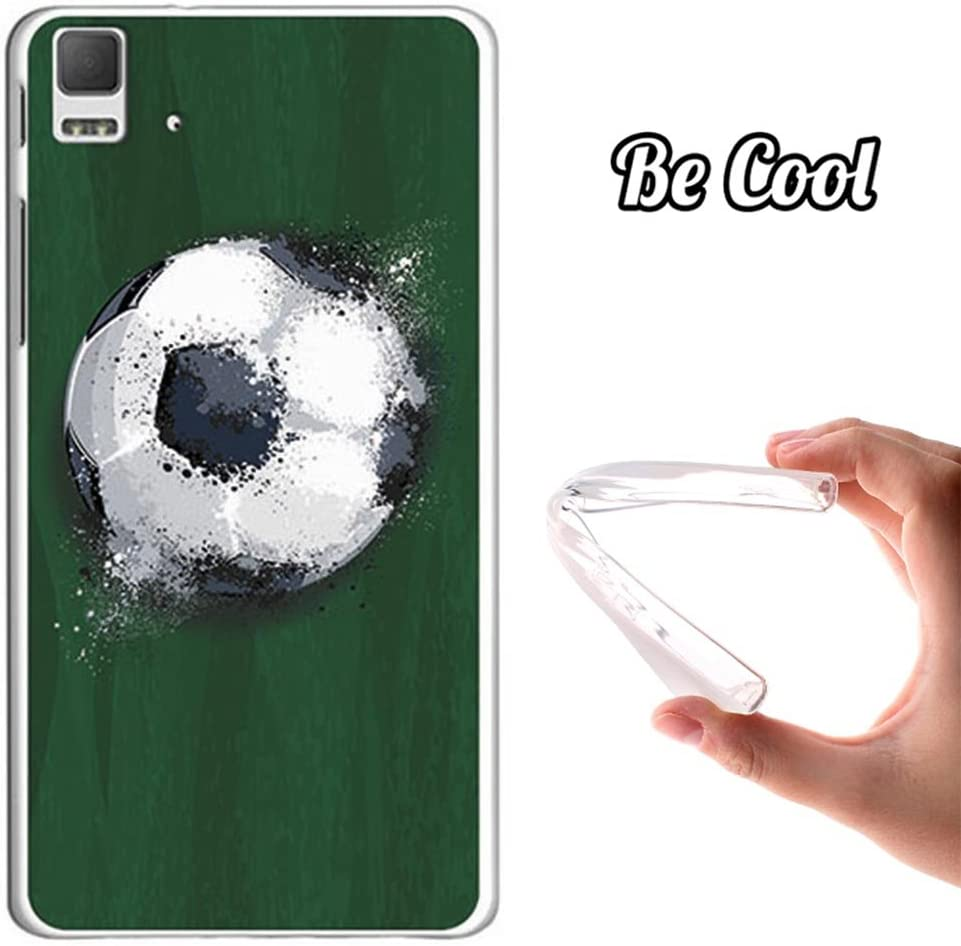 Funda Gel bq Aquaris E5 4G BeCool Balón de Fútbol Efecto Líquido ...
