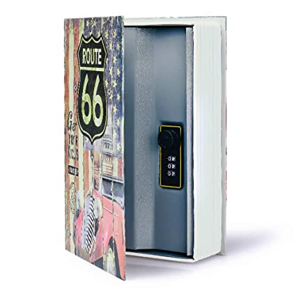 Diversion Book Safe Storage Box, Dictionary Secret Safe Can with Security  Combination Lock/Key, Diversion Book Hidden Safe (66 Route-Combination)