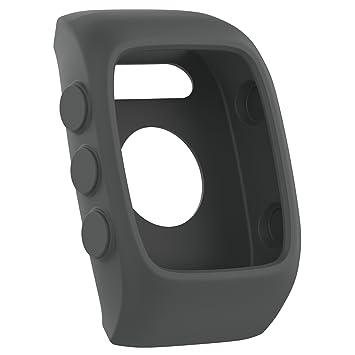 Funda protectora de repuesto para relojes Polar M430, de silicona suave y flexible, gris
