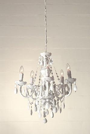 lampadario a gocce barocco in plexiglass bianco: Amazon.it ...