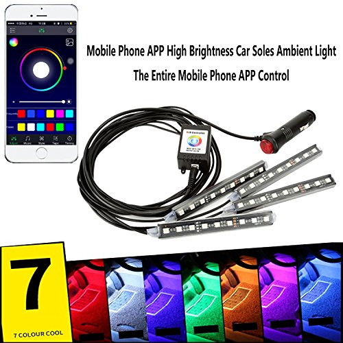 Wiipro 4PCS RGB LED Underdash Lighting K - Rgb Sync Shopping Results