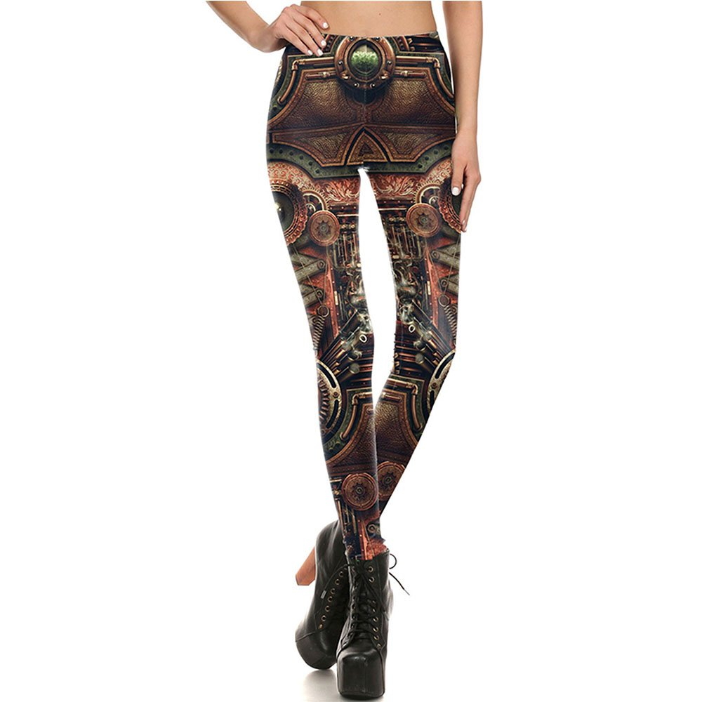 Women's Sexy Stylish Steampunk Cosplay Leggings Stretchy Casual Wear Pants