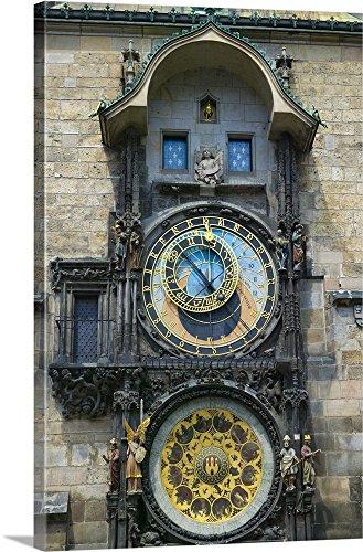 Keren Su Premium Thick-Wrap Canvas Wall Art Print entitled Window opens on Astronomical clock, Prague, Czech Republic 24