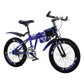 YEARLY Bicicleta plegable infantil, Bicicleta plegable estudiante Los niños de bicicleta plegable Ultra ligh Bicicleta