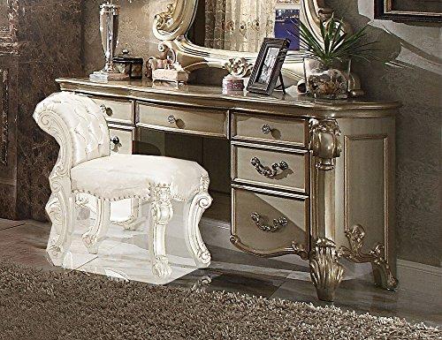 Acme Furniture ACME Vendome Gold Patina Vanity (Gold Vanity Set)