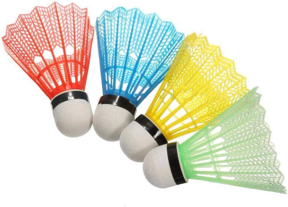 Fliyeong 18 Pcs Child Student Badminton Plastic Badminton Training Shuttlecocks for Outdoor Indoor Sports Exercise Random Color Best Choice