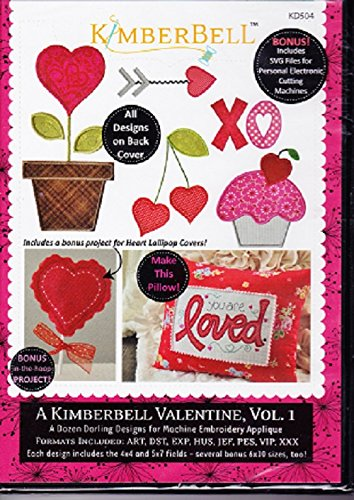 Kimberbell Valentine Vol. 1 Machine Embroidery CD KD504 Patterns 1 Embroidery Design