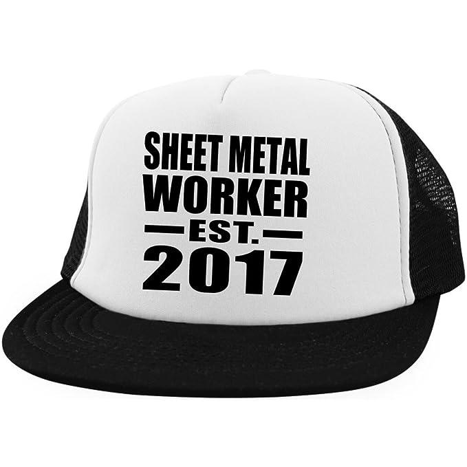 Designsify Sheet Metal Worker Established EST. 2017 - Trucker Hat Visera, Gorra de Béisbol