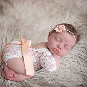 Girls boys Newborn Baby Lace Romper Costume Photo Photography Props Decor