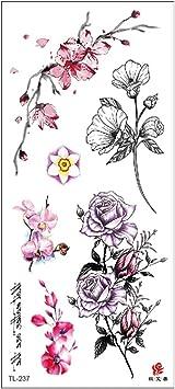 3Pcs-2019 pegatinas de tatuaje para mujer brazo flores boceto ...