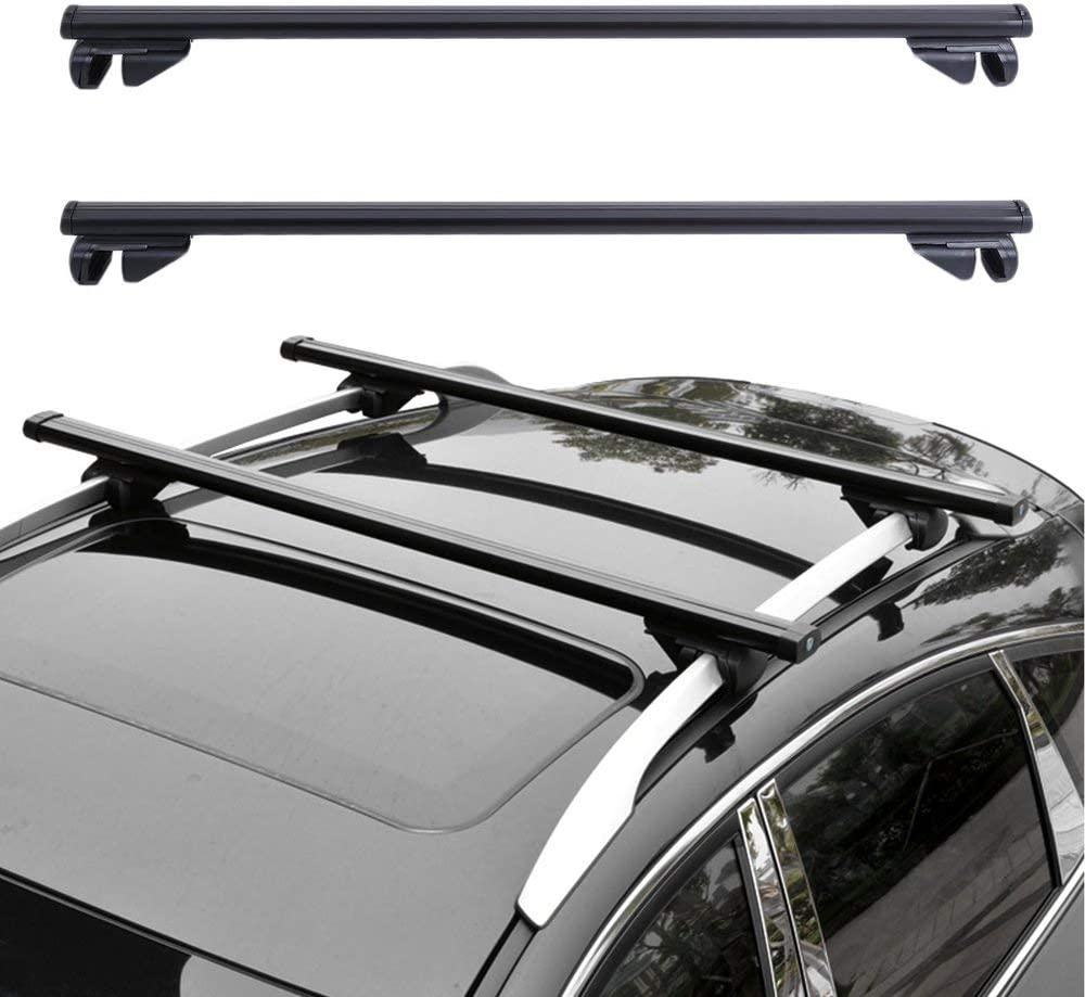 1CAwindwinevine Universal Car Roof Rack Cross Bars Vehicle Cargo Luggage Carrier Auto Roof Rails with Anti-Theft Lock Easy Fit 124CM