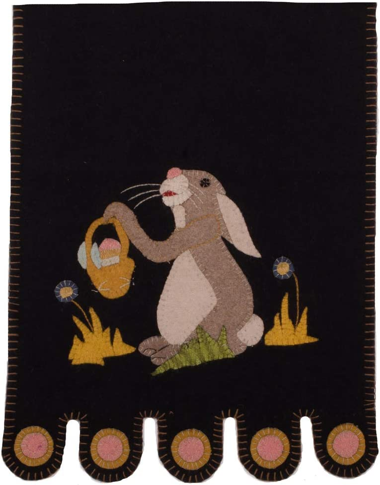Home Collections by Raghu Bunny and A Basket Table Runner, Black