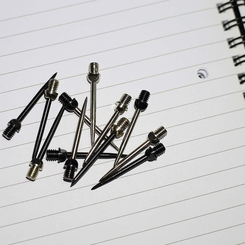 Puntas Intercambiables de Metal 2BA Plus Juego de Accesorios para Dardos de Acero Puntas de dardo de Acero ToBeIT 12 Unidades