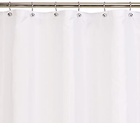 Carnation Home Fashions 70 Inch By 78 Inch Fabric Shower Curtain Liner, X