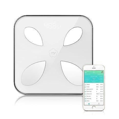 irealist Smartphone conectados grasa escala, Yolanda Digital analizador de grasa corporal báscula de