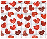 drawing a day 2015 - Valentines Day Valentines Day 2015 Heart Drawing 100009 Customized Rectangle Mousepad, Gaming Mouse Pad Mouse Mat