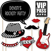 Custom Party Like a Rockstar Photo Booth Props Kit - Personalized Music Themed Party Supplies - 20 Selfie Props