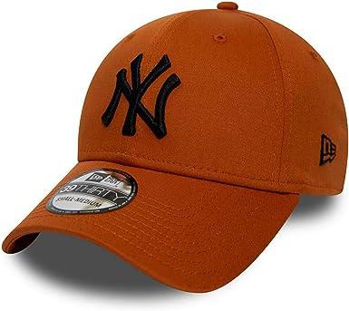 New Era Gorra 39thirty MLB York Yankees League Essential Marrón L ...