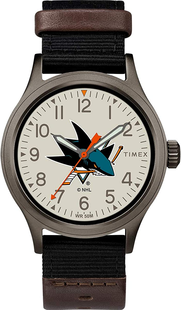 Timex Men's TWZHSHAMB NHL Clutch San Jose Sharks Watch