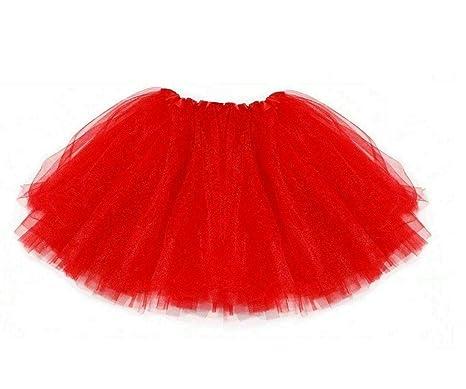 A & H Fashion - Disfraz de tutú de Papá Noel, Color Rojo: Amazon ...