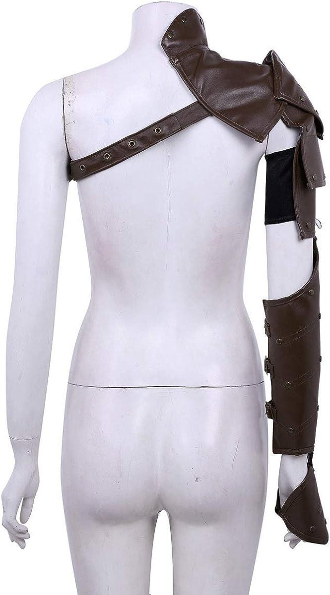 armaduras de brazo Inhzoy Arn/és Medieval G/ótico Punk para disfraz de cosplay con remaches met/álicos ajustables de un solo hombro