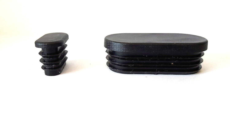 embouts plastique pour tubes ovales dune /épaisseur de paroi de 1,5-3 mm 4 patins//bouchons