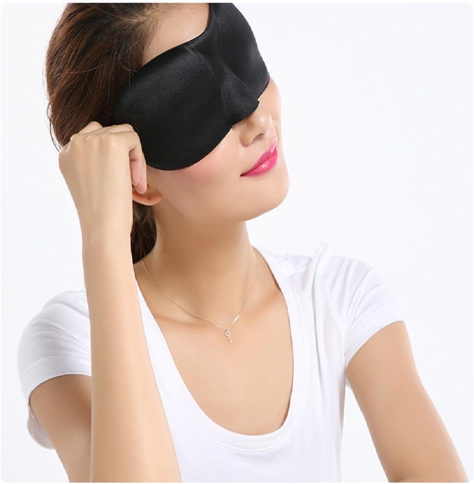 St/ér/éo 3D Masque de Sommeil respirant masque sommeil Master pour air ou tranquille nuit reste de voyage avec t/ête r/églable Sangle confortable