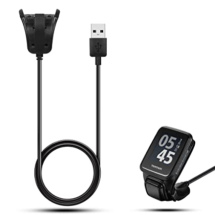 Cargador USB iFeeker con cable, para relojes inteligentes TomTom Adventurer, TomTom Golfer 2,