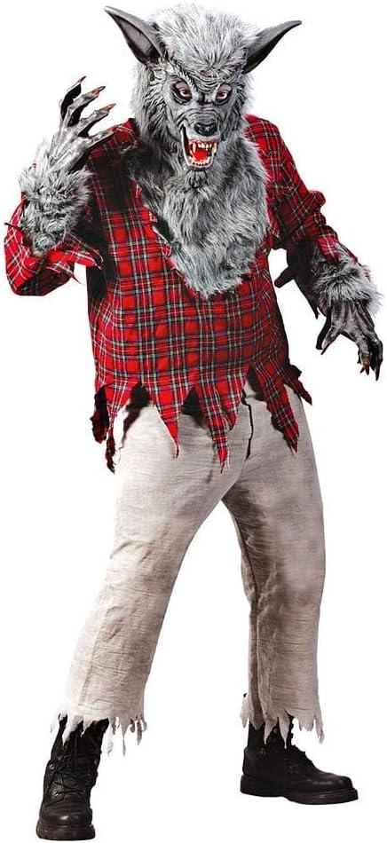 Horror-Shop Hombre Lobo Traje Gris: Amazon.es: Juguetes y juegos