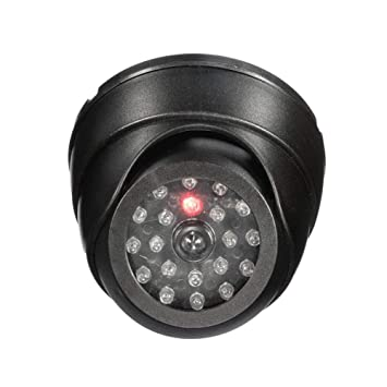 JEEJEX Dummy Security CCTV Fake Dome Imitation Surveillance Security Camera with Blinking Red Led Light Indication. for Home Or Office Security Camera