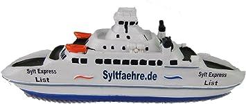 Schiff Modell Passagier Fähre Sylt,12 cm Polyresin,Fährschiff,Syltexpress