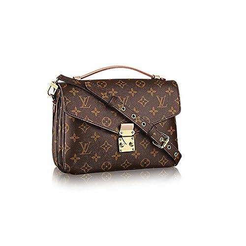 8d9b6096e Authentic Louis Vuitton Monogram Canvas Pochette Metis Cross Body Bag  Handbag Article: M40780: Amazon.ca: Shoes & Handbags